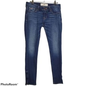 Hollister Ankle Zip Low Rise Skinny Jeans